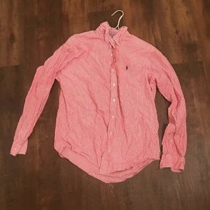Polo Ralph Lauren Pink Striped Button Up